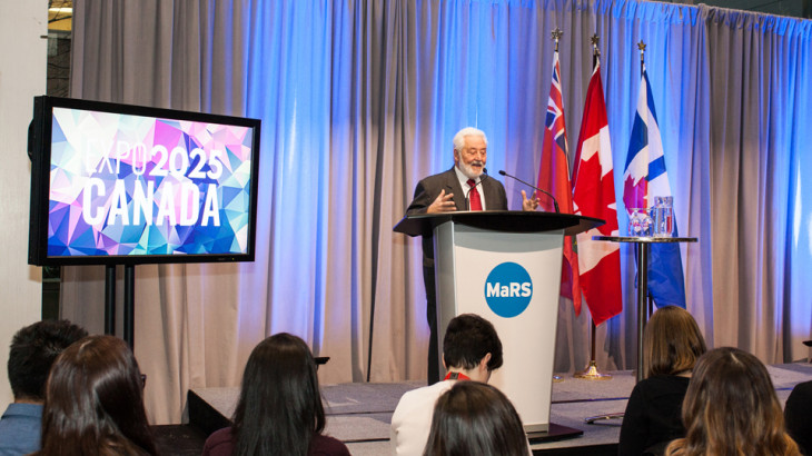BIE Secretary General Speaks at MaRS about Toronto's Expo 2025 opportunity
